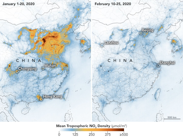 China's air gets cleaner and pleasant.