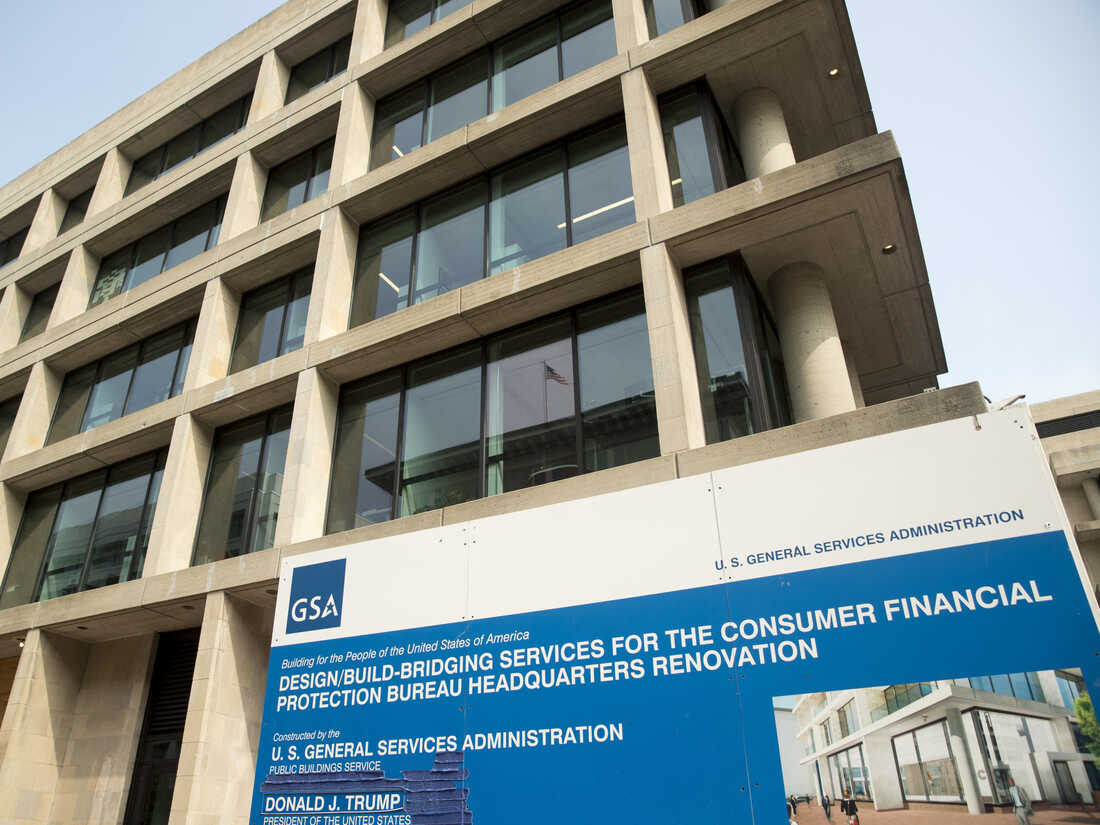 The construction site for the Consumer Financial Protection Bureau's new headquarters in Washington