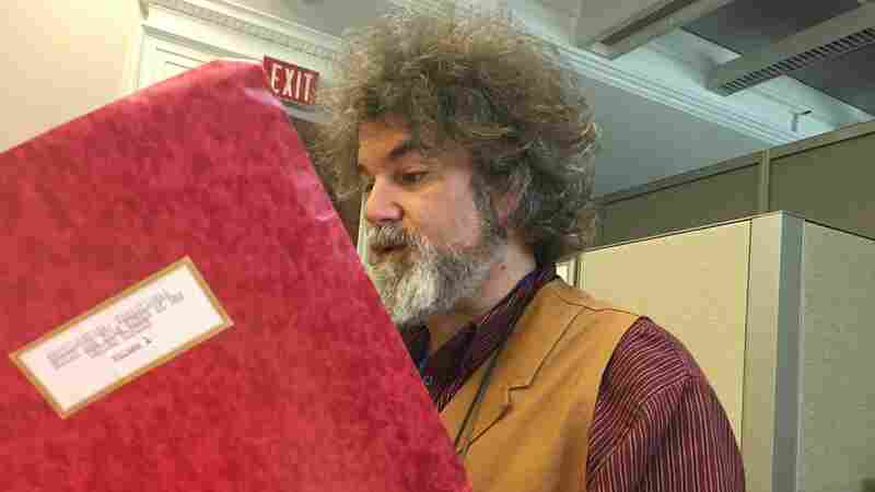 Folklorist Steve Winick reads through a portion of Riley Shepard's Encyclopedia: Traditional Music and Folk Songs of the United States, Vol. 1.