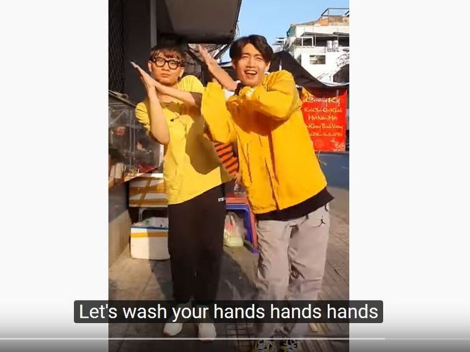 Health ministries and creative artists are making videos to teach good hygiene and social responsibility. Some are extremely winning, like the hand-washing dance created by Vietnamese choreographer Quang Đăng. (Quang Đăng/YouTube)