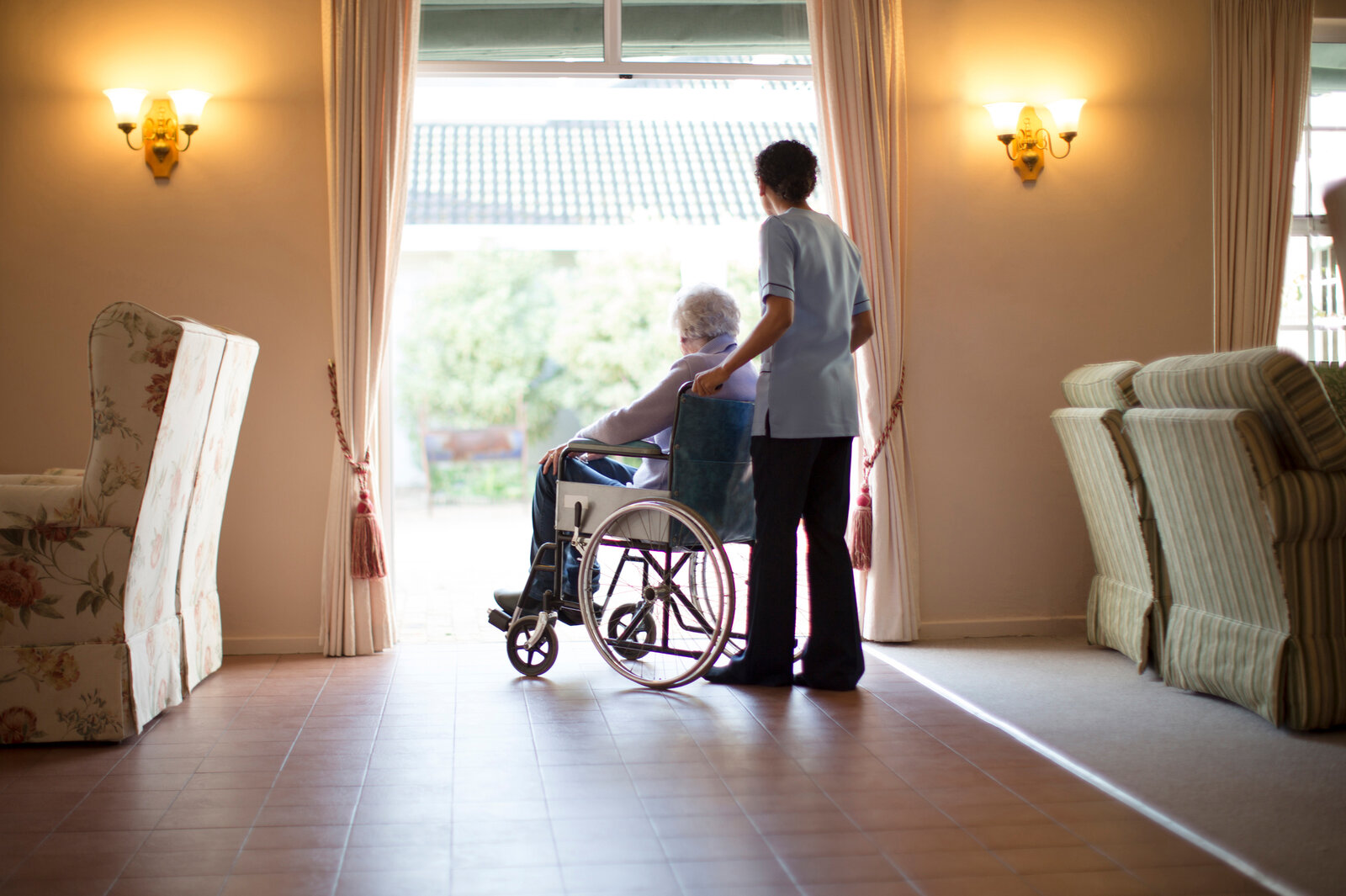 Many are forced into nursing homes because they can no longer afford living on their own.