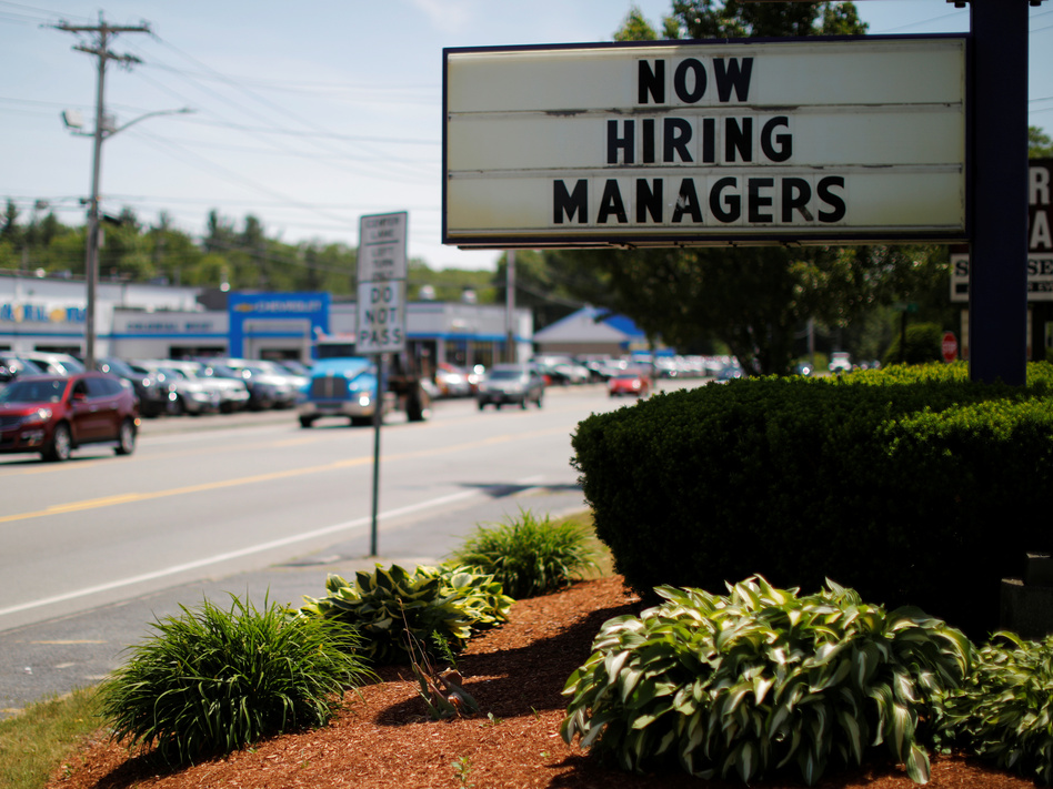 Employers continued to add jobs in February, and the unemployment rate remained near historic lows. (Brian Snyder/Reuters)