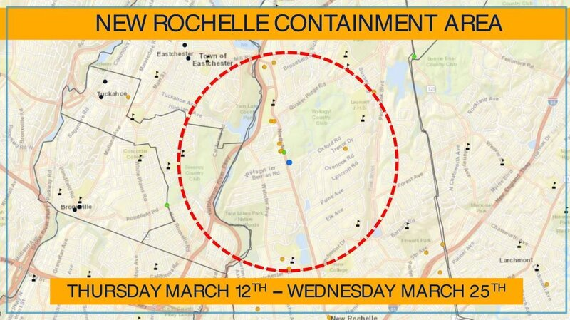 Coronavirus: New York Creates 'Containment Area' Around Cluster In New Rochelle