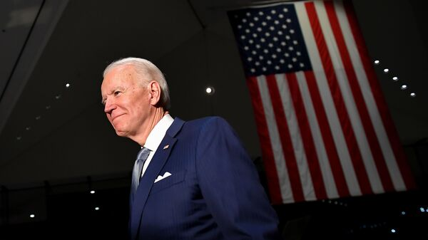 Democratic presidential hopeful former Vice President Joe Biden spoke at the National Constitution Center in Philadelphia Tuesday night.