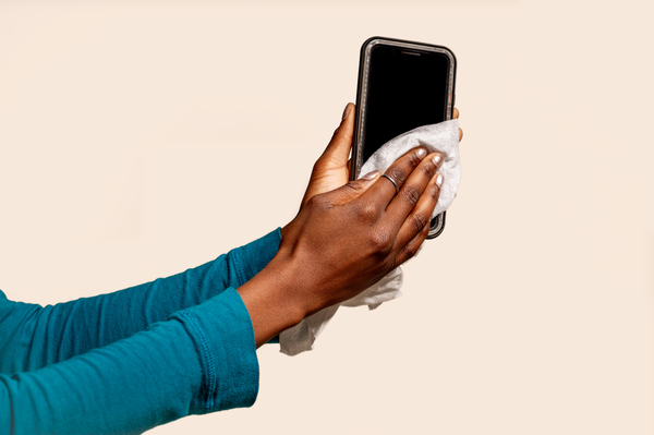 """One way to fend off germs: Clean your phone. Your phone is your """"third hand""""; one that harbors the multitude of germs and bacteria we come into contact with each day."""