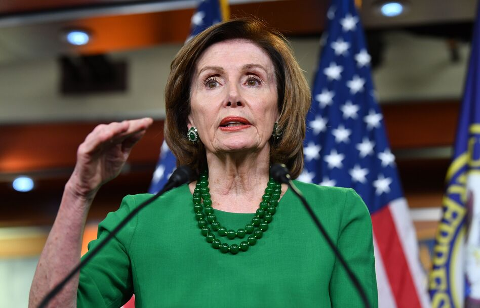 House Speaker Nancy Pelosi was unable to get a vote late Thursday on legislation that includes paid sick leave, nutrition aid and assistance for states, including unemployment and Medicaid costs. (Nicholas Kamm/AFP via Getty Images)