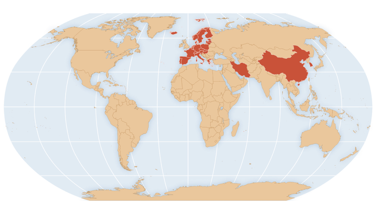 Image of: Coronavirus Travel Advisories Map Shows Cdc S Areas Of Concern Goats And Soda Npr