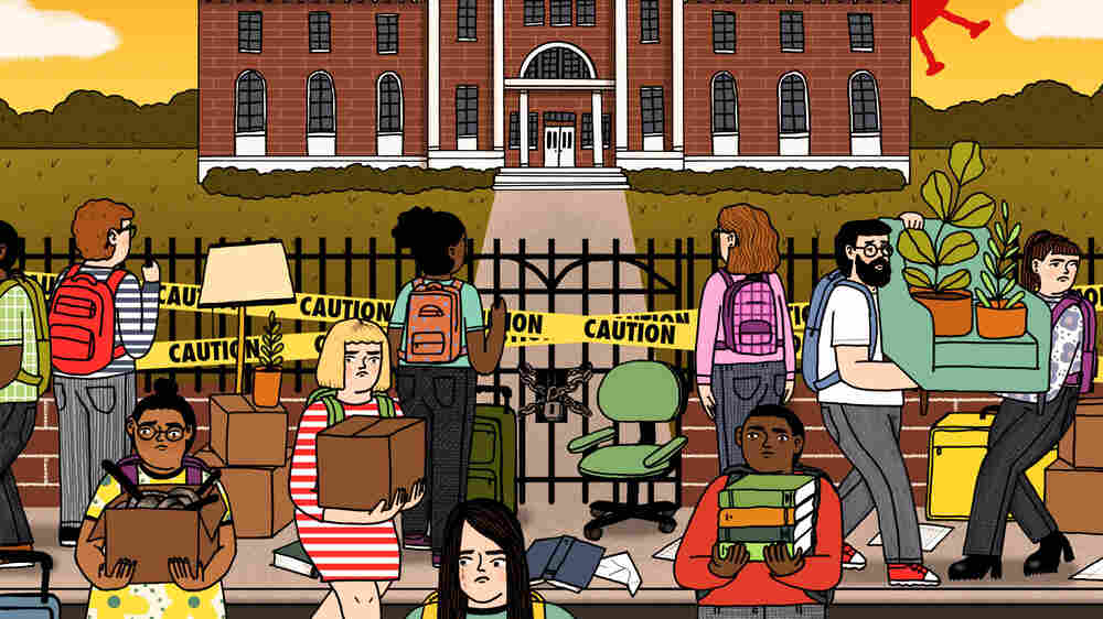 When Colleges Shut Down, Some Students Have Nowhere To Go