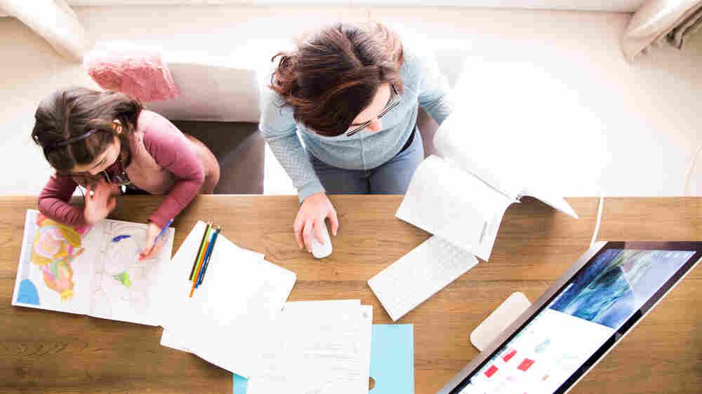 Coronavirus Triple Duty: Working, Parenting, And Teaching From Home