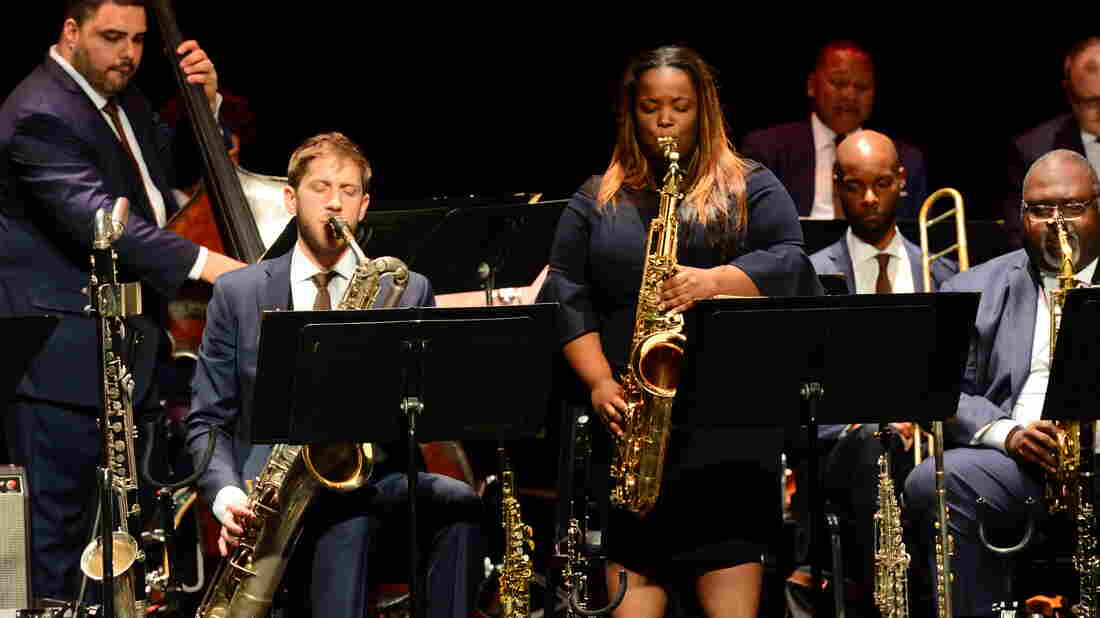 Saxophonist and vocalist Camille Thurman.