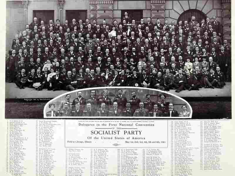 Members of the Socialist Party of the United States of America convened in Chicago, Illinois for their first national convention in May 1904. Eugene V. Debs is listed as delegate number 207.