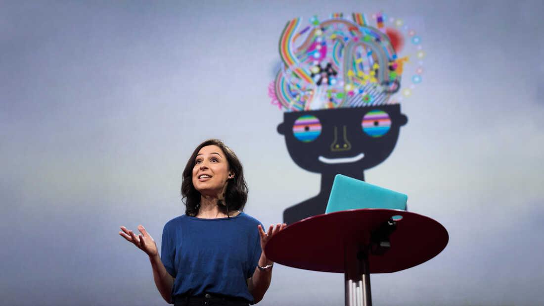 Manoush Zomorodi on the TED stage
