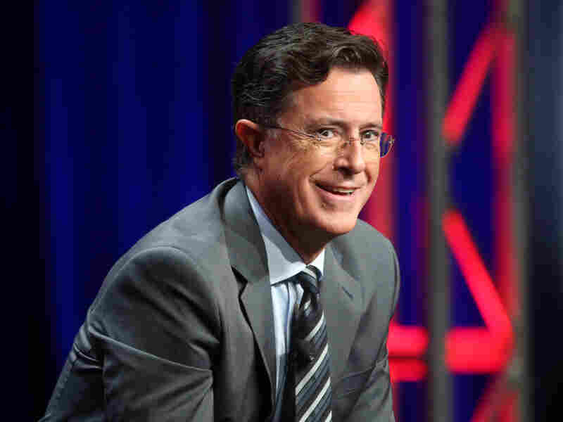Stephen Colbert speaks on a panel on Aug. 10, 2015, in Beverly Hills, Calif.
