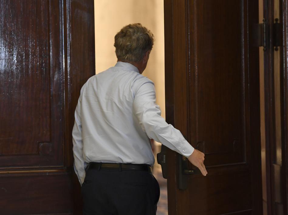 Sen. Rand Paul, R-Ky., announced Sunday that he'd tested positive for the coronavirus. (Susan Walsh/AP)
