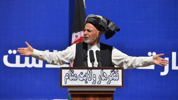 Afghan President Ashraf Ghani speaks earlier this month in Jalalabad. Ghani