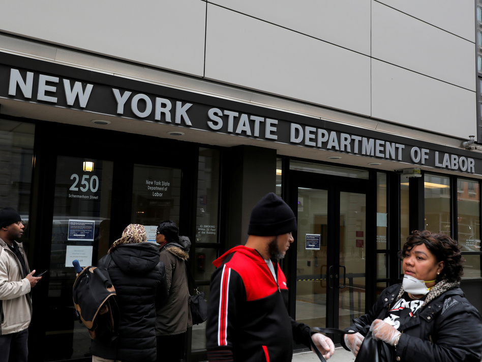 Claims for unemployment benefits are spiking across the country as businesses shut down to stem the spread of the coronavirus. (Andrew Kelly/Reuters)