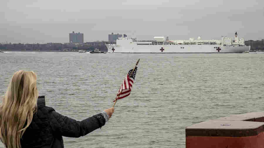 Hospital Ship USNS Comfort Arrives In New York To Ease Coronavirus Pressure