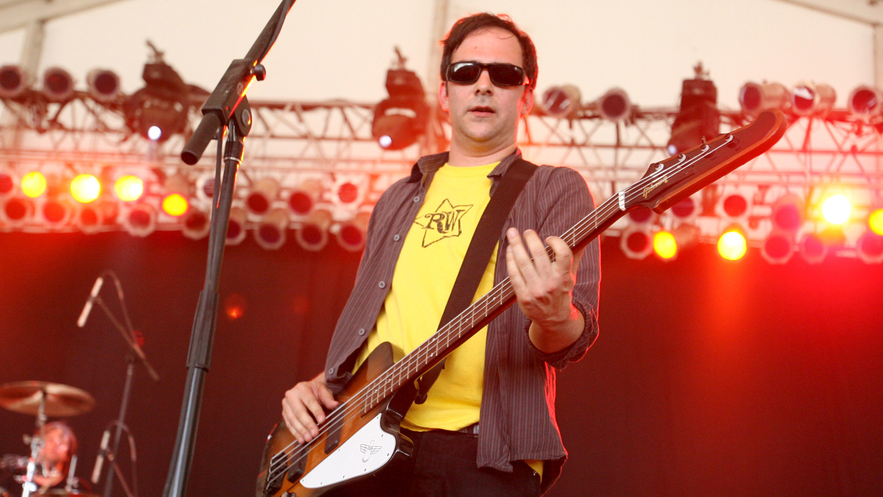 Adam Schlesinger of Fountains of Wayne performs at the Bonnaroo Music & Arts Festival in 2007.