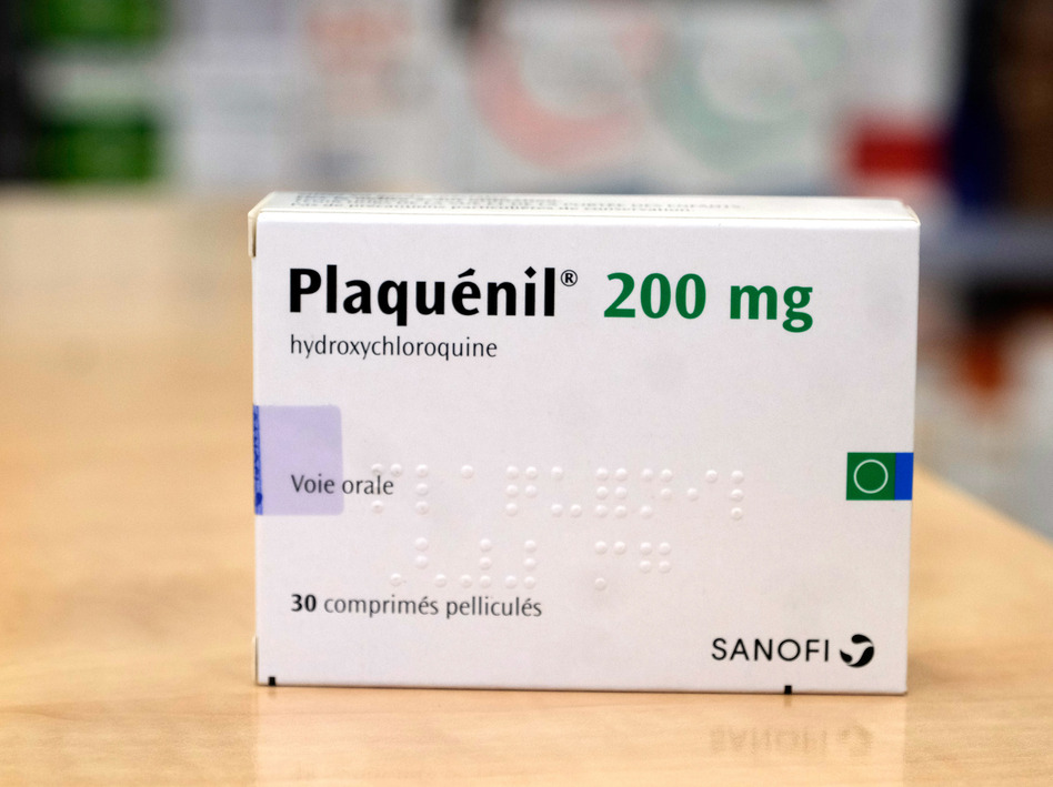 A pack of Plaquenil, (Hydrochloroquine) is displayed in a Parisian pharmacy on Tuesday in Paris, France. Chloroquine or Hydroxychloroquine, is now one treatments being evaluated in clinical trials as a possible preventative or treatment for COVID-19. (Laurent Viteur/Getty Images)