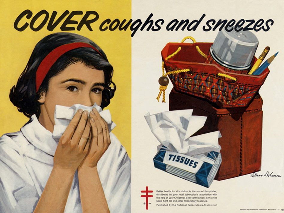 A 1960s health poster from the National Tuberculosis Association indicates that TB was still a problem in the U.S. in that decade. (Universal History Archive/Universal Images Group via Getty)