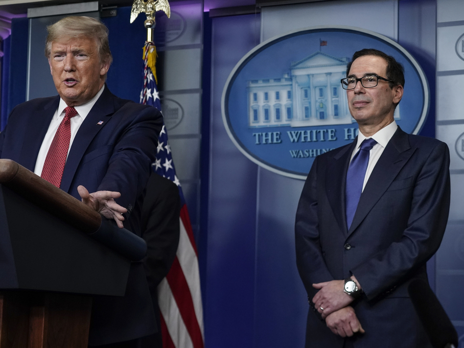 Treasury Secretary Steven Mnuchin previously estimated that payments to qualifying Americans would go out by mid-April. (Drew Angerer/Getty Images)