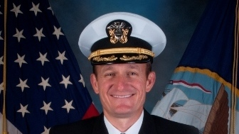 U.S. Navy Captain Brett Crozier, who was relieved of command of the USS Theodore Roosevelt after sending a letter critical of the handling of a shipboard outbreak.