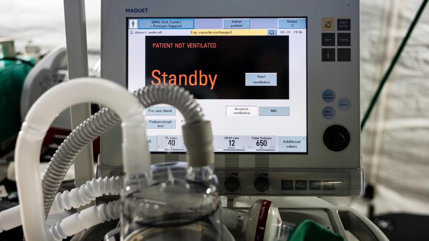 Preparing Hospitals For Ventilator Shortages : Shots - Health News : NPR