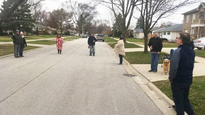 'Driveway Happy Hour' Lets Neighbors Get Together — While Apart