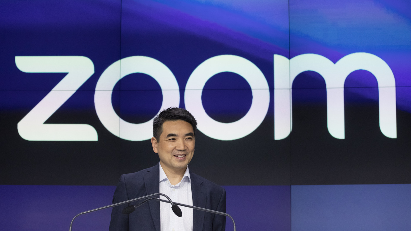 Zoom CEO Tells NPR He Never Thought 'Seriously' About Online Harassment Until Now