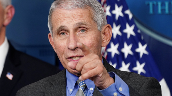 """""""I think the American public have done a really terrific job of just buckling down and doing those physical separation and adhering to those guidelines,"""" National Institute of Allergy and Infectious Diseases Director Dr. Anthony Fauci said Thursday."""