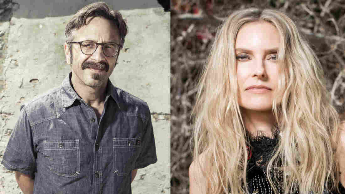 Comedian Marc Maron and musician Aimee Mann join Ask Me Another.