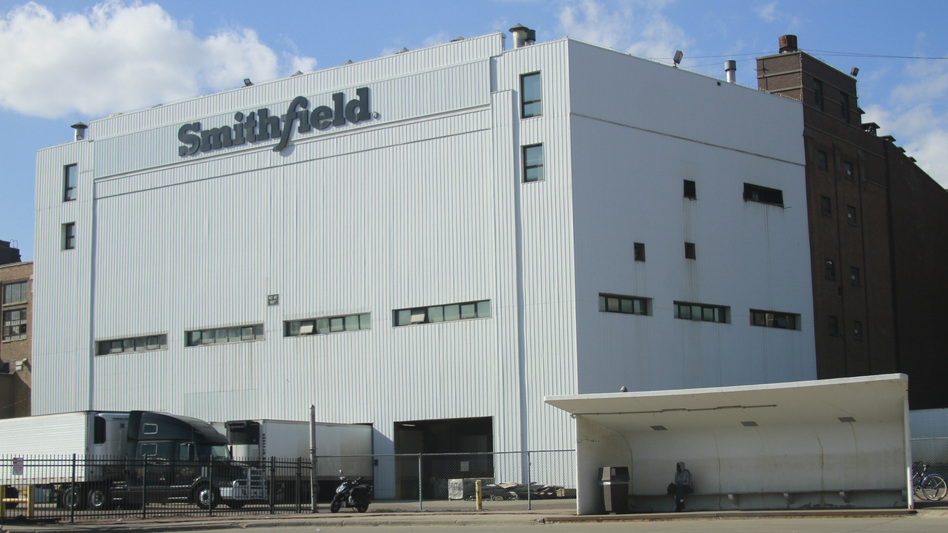 A Smithfield Foods plant in Sioux Falls, S.D., that produces 4% to 5% of the nation's pork supply has become the latest meat processing facility to shut down as COVID-19 sickens plant workers. (Stephen Groves/AP)