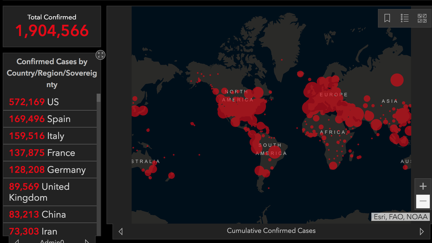 Mapping Covid 19 Millions Rely On Online Tracker Of Cases Worldwide Npr