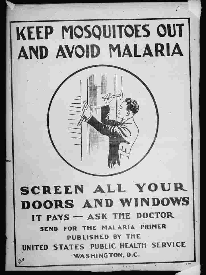 A U.S. Public Health Service malaria poster, September 1920.