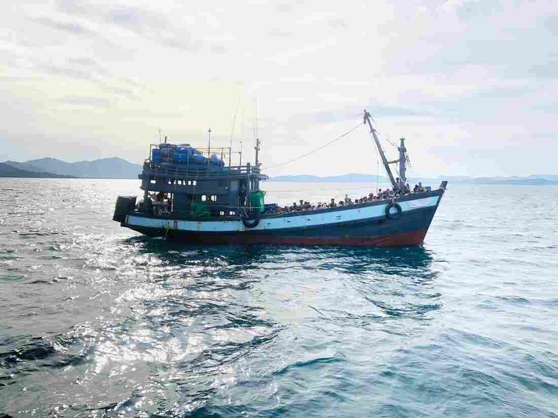 Rohingya die, hundreds rescued from boat after weeks at sea