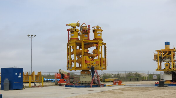 After the Deepwater Horizon accident a capping stack like this one had to be built to stop the flow of oil. Now, five of them are on standby in Corpus Christi, Texas, and could be deployed in about a week.