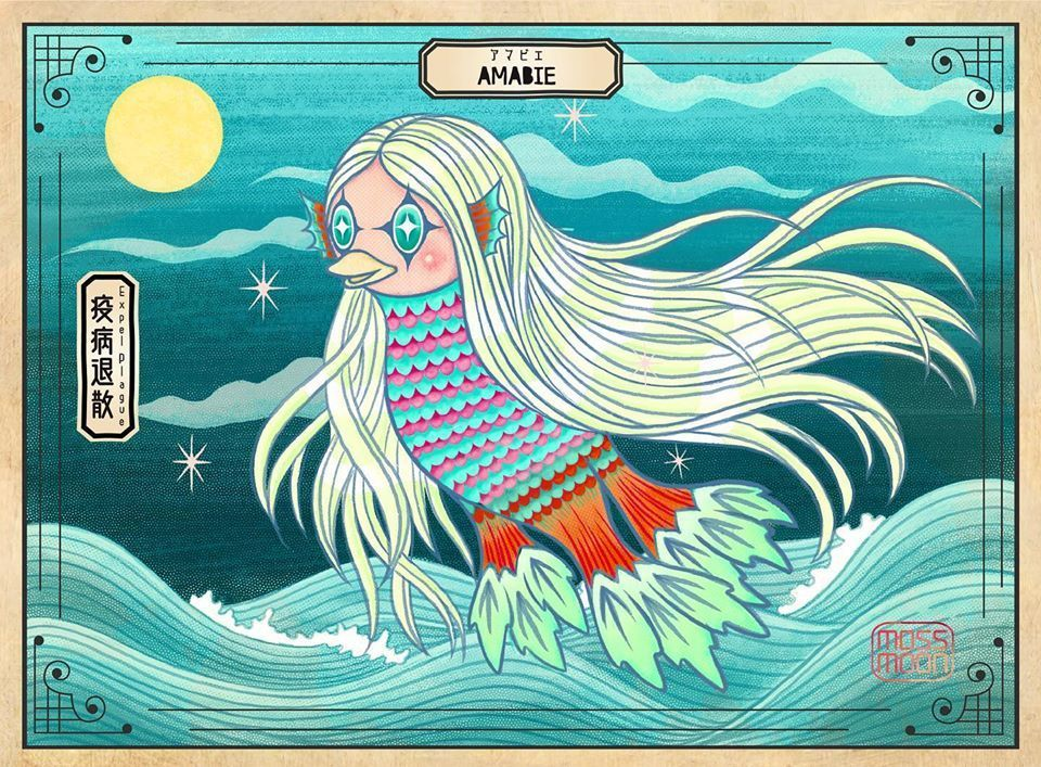 In Japan Mythical Amabie Emerges From 19th Century Folklore To