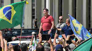 Brazil's Bolsonaro Joins Supporters In Protest Against Coronavirus Measures