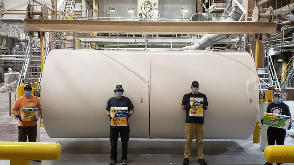 The Procter & Gamble plant in Mehoopany, Pa., has been running nonstop during the pandemic, making essential products such as toilet paper, paper towels and disposable diapers.