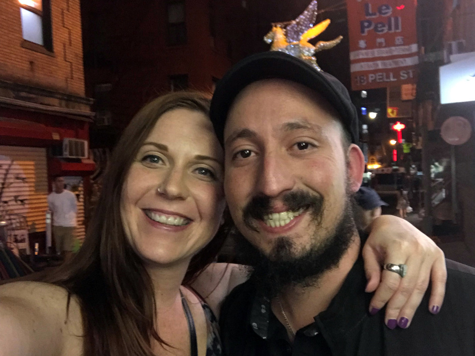 Before they were laid off, Maxwell Kirsner and Natalie Borowicz, his fiancée, both worked for a company that staged big events in New York City. (Courtesy of Maxwell Kirsner)