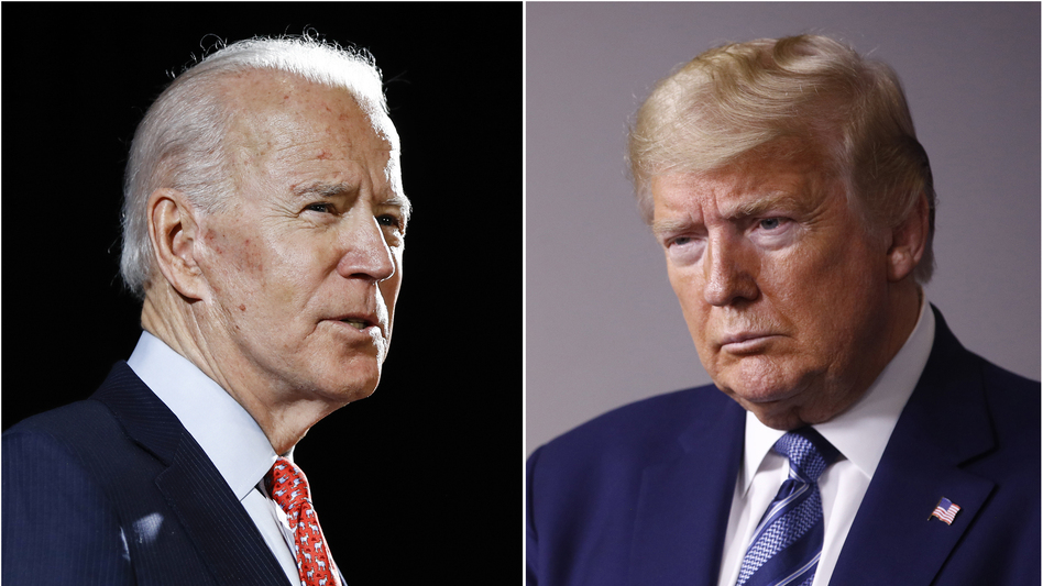 Presumptive Democratic presidential nominee Joe Biden and President Trump are engaged in a heated argument over which one is taking a tougher line on China. (Matt Rourke, Patrick Semansky/AP)