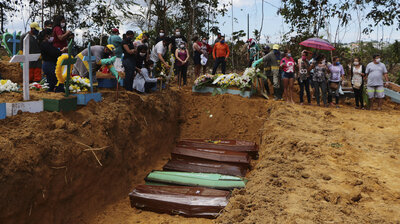 'Living Through A Nightmare': Brazil's Manaus Digs A Mass Grave As Deaths Mount