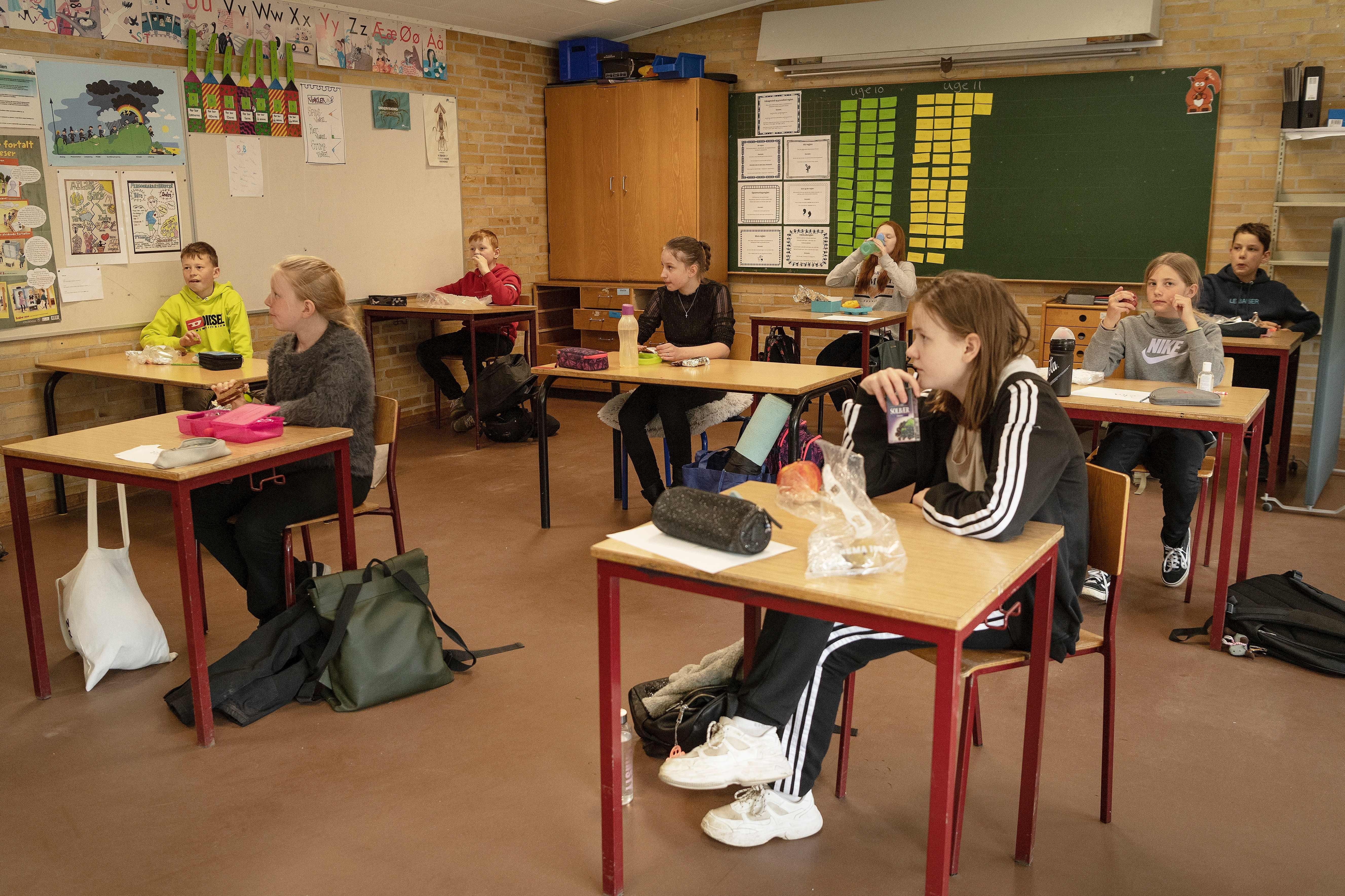 Group Of Kids Talking In Class