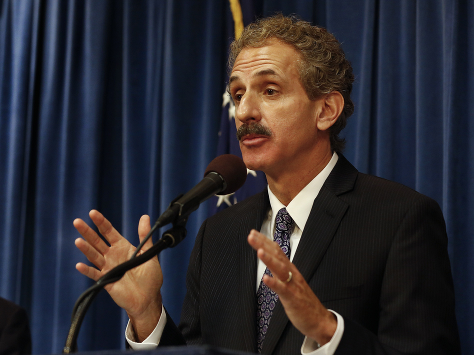 """Los Angeles city attorney Mike Feuer has taken action against several companies selling supposed treatments or """"at-home"""" test kits for the coronavirus. (Mel Melcon/Los Angeles Times via Getty)"""