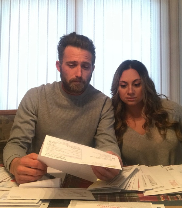 Frank Gullo and Jasmine Esposito-Gullo can't pay their bills and the mortgage on their house on Long Island, N.Y., after she lost most of her income and he had his hours cut back because of the pandemic. Their lender told them that if they skipped payments, they'd have to make a giant balloon payment to catch up.