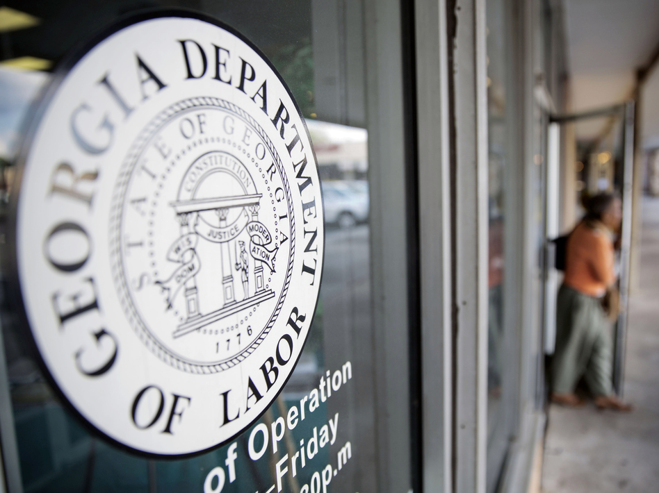 "Kersha Cartwright, a spokeswoman for the Georgia Department of Labor, said the office ""is encouraging employees to work with their employers on a safe return-to-work plan."" (David Goldman/AP)"