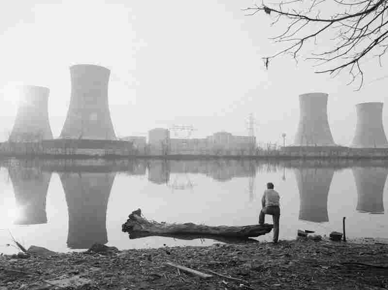 The Three Mile Island nuclear power plant two days after a meltdown forced a temporary closure of the plant.