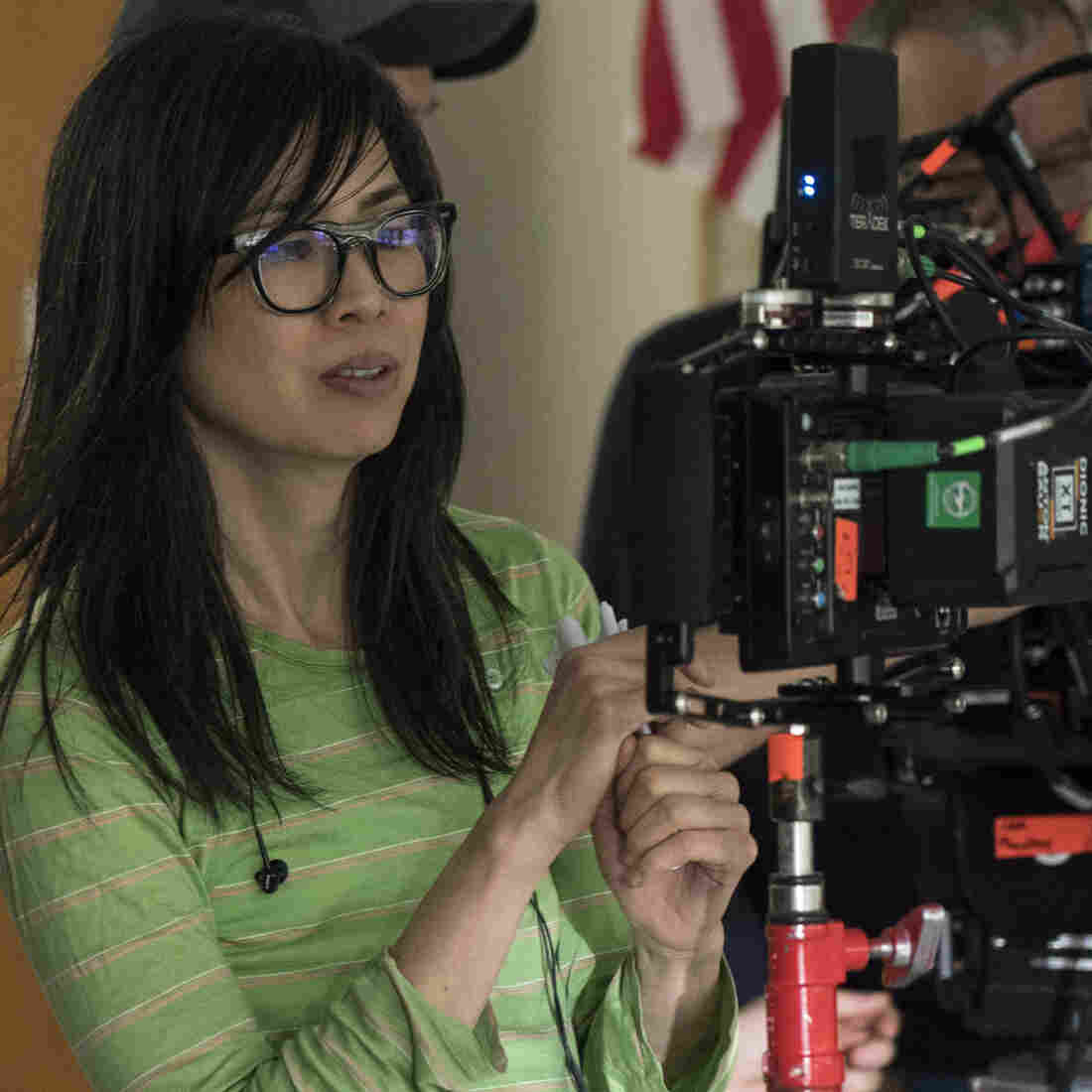 Alice Wu directing her new movie, 'The Half of It'.