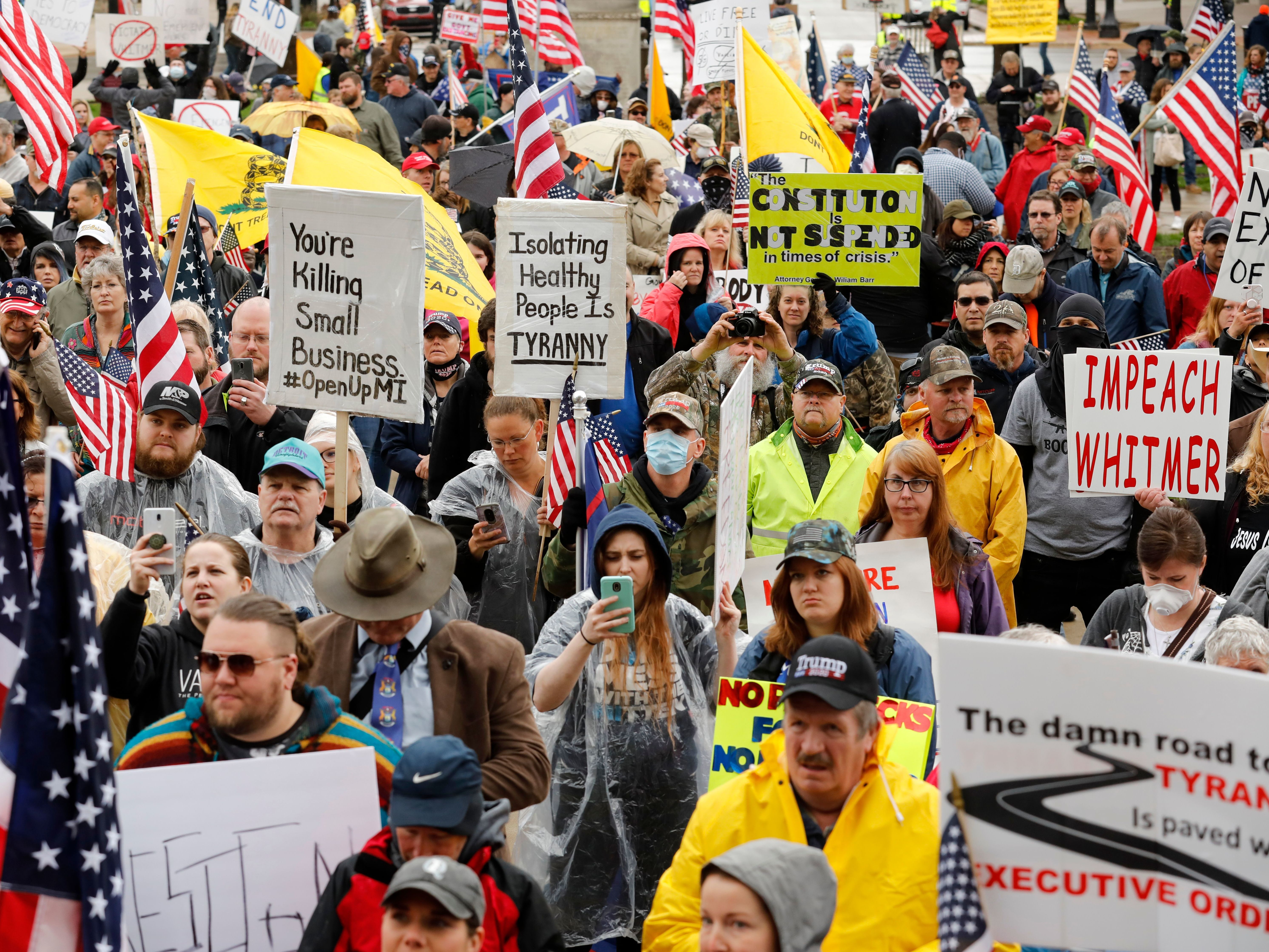 Protesters Swarm Michigan Capitol Amid Showdown Over Governor S Emergency Powers Coronavirus Updates Npr