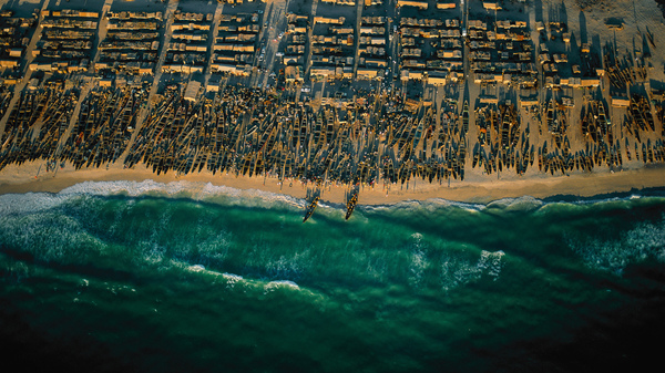 A fishing village near Nouakchott, Mauritania. After a severe drought, many of the country